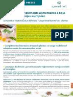 Communique de Presse Plantes Synadiet Final Plante Complément