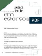 Alencar - A Difusão Da Cidade Em Estorvo, De Chico Buarque (Versão Da Revista)