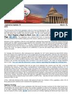 WVWA Legislative Summary 2016