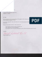 Response letters to Carrington and Wels Fargo Bank