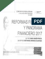 Reformas Fiscales y Panorama Financiero 2017  CFDecada
