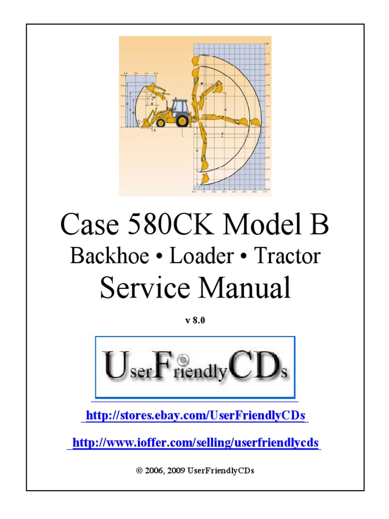 case 580ck model b service manual transmission (mechanics) tractor