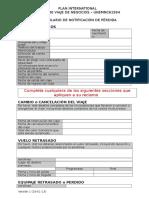Formulario de Notificación de Pérdida