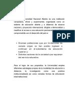 La Universidad Nacional Abierta Es Una Institución Venezolana