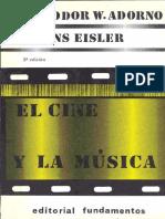 Adorno, T. W. - El Cine y La Música