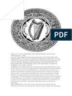 Irish Ff, Fg, Lb, Ministers and Secretaries High Felony Treason Act, 1924