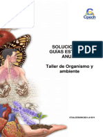 2016 Solucionario Guía 29 Taller de Organismo y Ambiente