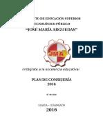 Plan de Consejeria 2016