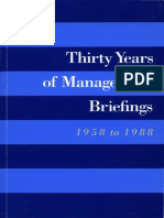 IBM Thirty Years of Mangement Briefings 1958-1988