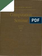 IBM Computation Seminar Aug51