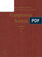 IBM Computation Seminar Dec49