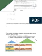 Examen de Matemática Final 3a
