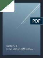 Barthes, R. Elementos de Semiologia