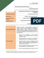 Perfil de Selección - Coordinador(a) de Planificación y Control de Gestión