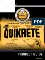 Quikrete Concrete Product Guide
