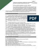 Edital (Processo Seletivo - Tremembé - 2016) - PROVA 8 de JANEIRO