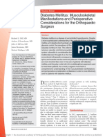 Diabetes Mellitus - Musculoskeletal Manifestations and Perioperative Considerations for the Orthopaedic Surgeon 2014