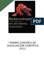Biotecnología en El Menú