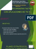 Planeamiento Operativo Tactico Con Aplicaciones de Tics