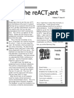 The reACT2ant Newsletter, Summer 2010