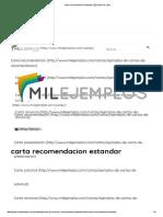 Carta Recomendacion Estandar _ Ejemplos de Carta