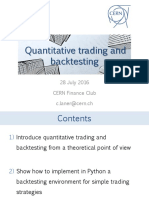 Quantitative Trading and Backtesting