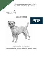 border terrier standard fci