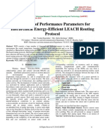 Evaluation of Performance Parameters for Hierarchical Energy-Efficient LEACH Routing Protocol