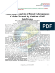 Performance Analysis of Paired Heterogeneous Cellular Network by Abolition of Self Interference