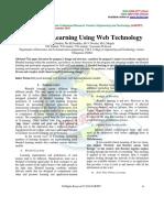 E-Blended Learning Using Web Technology