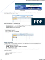 Calculations in Excel 2007