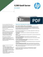 HP ProLiantDL380 DataSheet