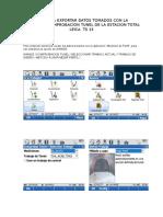 Guia Para Exportar Datos Tomados Con La Aplicación Comprobacion Tunel de La Estacion Total Leica Ts 15