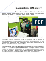 SUZA Inaugurates Its CDL and TV