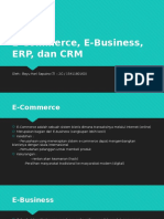 E-Commerce, E-Business, ERP, Dan CRM