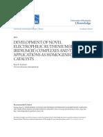 Development of Novel Electrophilic Ruthenium(II) and Iridium(III)