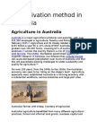 Cultivation Method in Australia