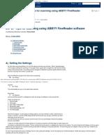 3.3 B. Tips for Scanning Using ABBYY FineReader Software - Bookshare Open Space