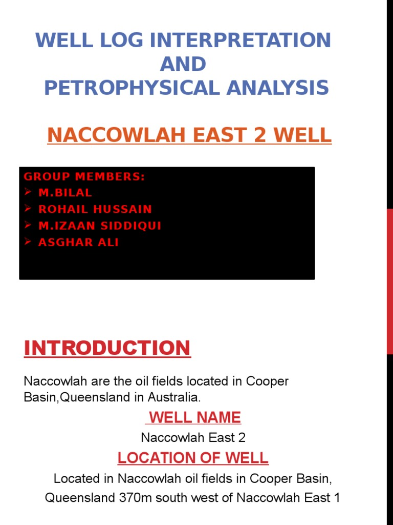 Well Log Interpretation AND Petrophysical Analysis