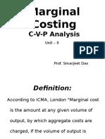 Marginal Costing (CVP Analysis) Unit II