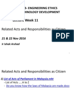 Related Acts and Responsibilities as Citizen