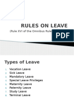 Lecture on Leave Laws