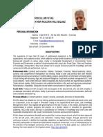 Curriculum Vitae CV Francisco J. Roldán V. (en Inglés)