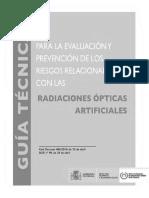 Guía Técnica Radiaciones Ópticas