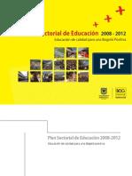 Plan Sectorial Educacion de Calidad 2008-2012