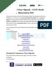 Standard Time Signals - GATE Study Material in PDF
