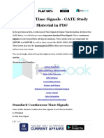 Standard Time Signals - GATE Study Material in PDF