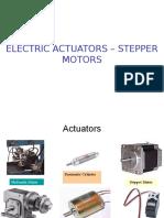 Unit II- Electric Actuators – Stepper