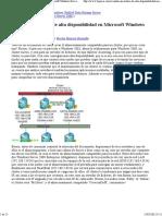 Creando Un Clúster de Alta Disponibilidad en Microsoft Windows Server 2008