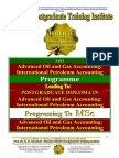 Advanced Oil Gas Accounting International Petroleum Accounting International Petroleum Operations MSc Postgraduate Diploma Intensive Full Time